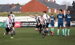 Chorley's Connor Hall celebrates scoring his side's first goal.