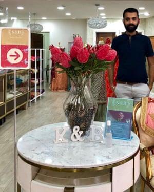 Karan Sodhi in his Indian bridal shop K & B First Choice, in Derby.