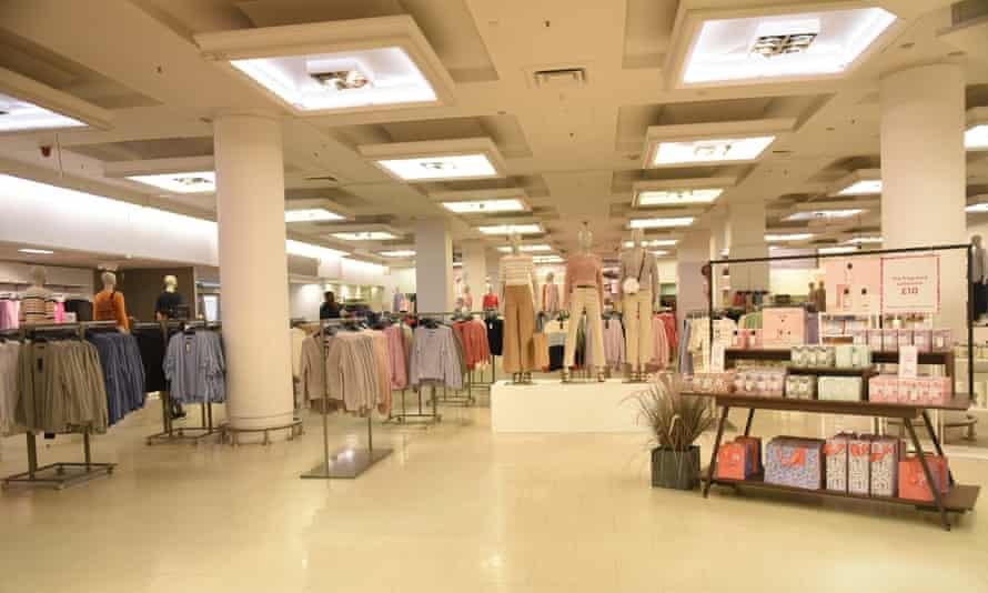 A deserted Marks & Spencer store in London.