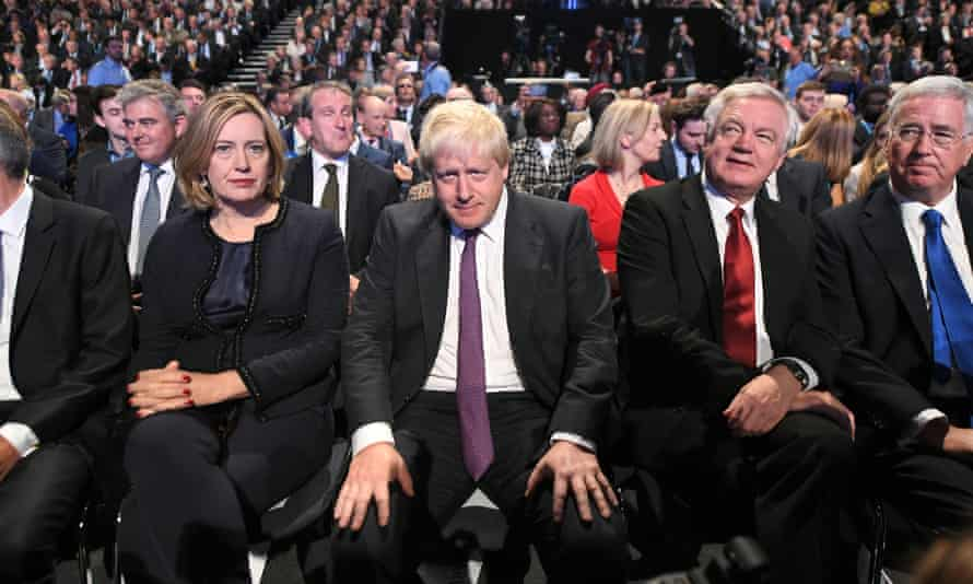 Amber Rudd and Boris Johnson on the front row