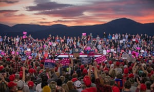 Under Montana's famous big sky, Trump addresses thousands of his supporters.