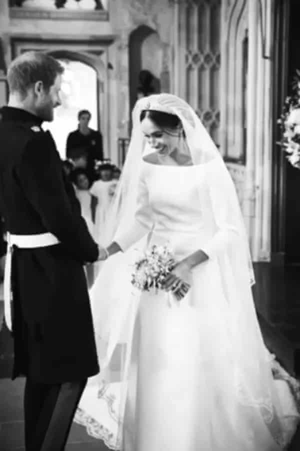 harry and meghan release wedding photos to mark anniversary monarchy the guardian harry and meghan release wedding photos