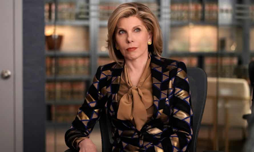 Christine Baranski as Diane Lockhart in The Good Fight: tough as iron yet somehow malleable enough to be surreal and silly.