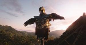 Thanos' armor in Avengers: Endgame