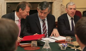 Gus O'Donnell with Gordon Brown