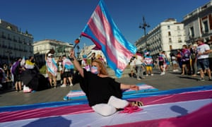 It might be Spain but it's a great pic. Transgender rights pride demo in Madrid last summer.