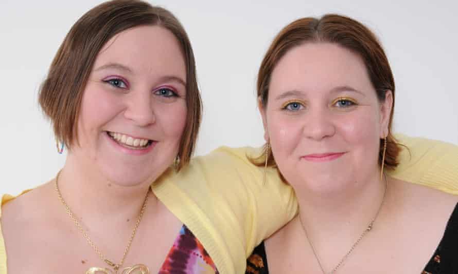 Twin sisters Katy (left) and Emma Davis