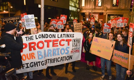 A protest march from Elephant and Castle to Southwark council offices to protest about redevelopment plans earlier this month.