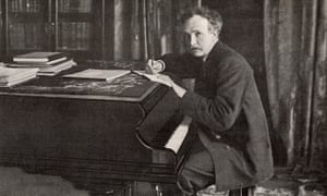 Richard Strauss around the time he conducted the first performance in England of his tone poem Ein Heldenlebe' in London,1902,