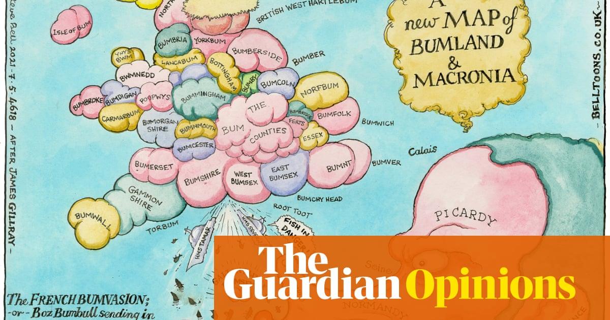 Steve Bell on Boris Johnson sending patrol boats to Jersey — cartoon - the guardian