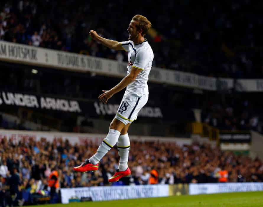 Harry Kane in action for Spurs in the Europa League in 2014.