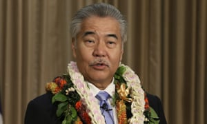 Hawaii's governor, David Ige, at the state capitol in January.