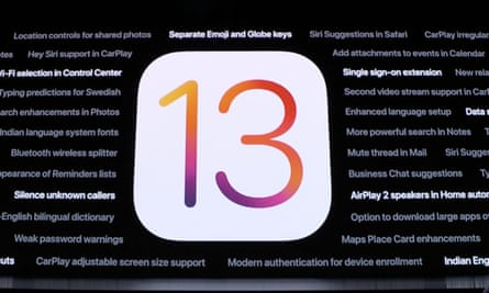 iOS 13 adds a dark mode among many new features.