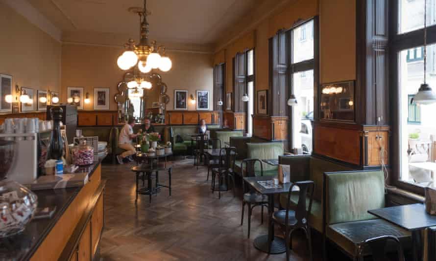 Cafe Goldegg, Viennese coffee house, opened in 1910, ArgentinierstraBe 49, Vienna, Austria