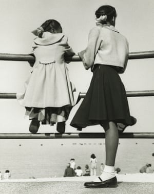 Two girls at lake Michigan, Chicago, 1952