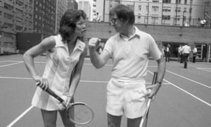 Battle of the Sexes chronicled the early days of the WTA tour and the fight by Billie-Jean King, left, for equal prize money which led to her facing Bobby Riggs for $100,000