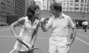 Bobby Riggs, 55, poses with Billy Jean King, 29, ahead of their 1973 showdown in Houston, which King won in straight sets.