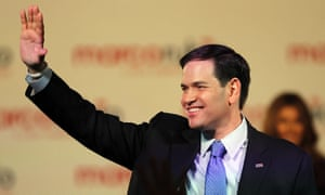 Rubio takes the applause after his speech.