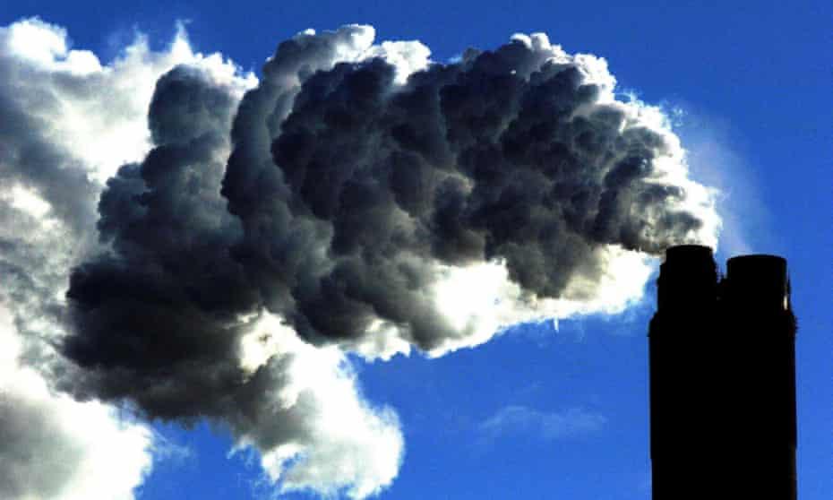 Chimney billowing black smoke