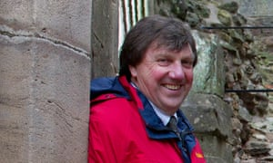 Rick Turner at Raglan Castle in south Wales in 2011. He was always happy to share his expertise and wanted to make monuments publicly accessible. He also enjoyed working with craftsmen.