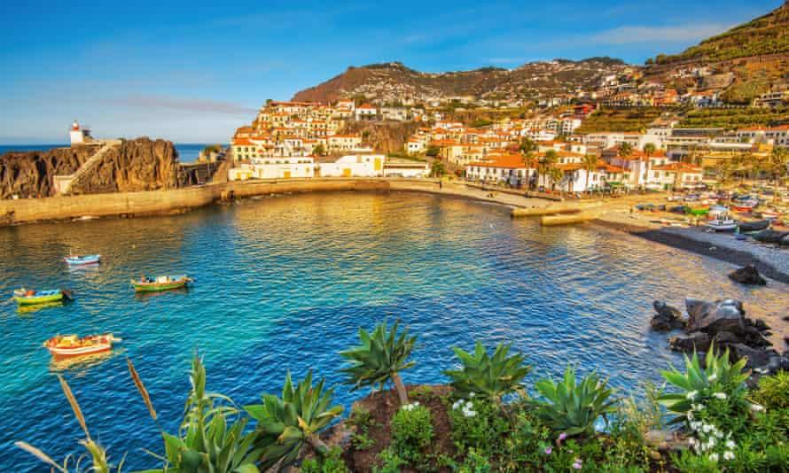 The village of Câmara de Lobos, Madeira. Portugal has imposed a ban UK travellers.