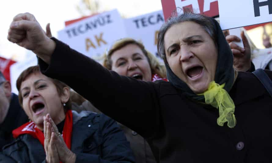 Thousands protest outside Turkey's parliament building in Ankara over what detractors have called the 'child rape bill'.