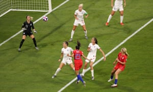 Poor England defending leads to Christen Press scoring the USA's first goal in the Women's World Cup semi-final.