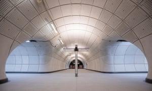'The exhilaration of arrival' … Farringdon's new Elizabeth line station.