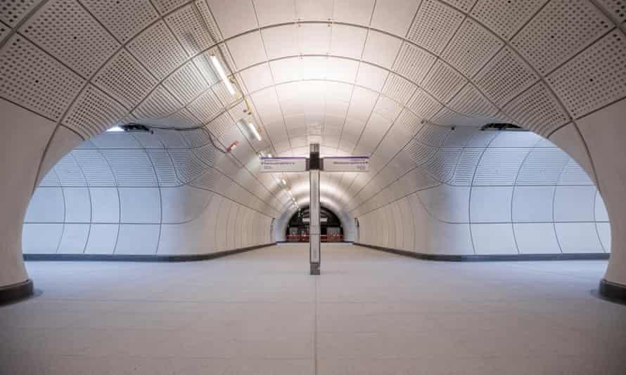 Slick but sterile … space age design at Farringdon's new Elizabeth line station.