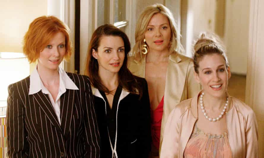 Friends disunited ... Sex and the City stars in their heyday.