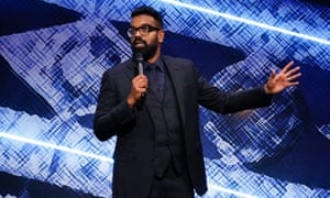 Romesh Ranganathan performing at the London Palladium in 2019.
