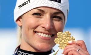 Lara Gut-Behrami won gold at the Skiing World Championships this week – just.