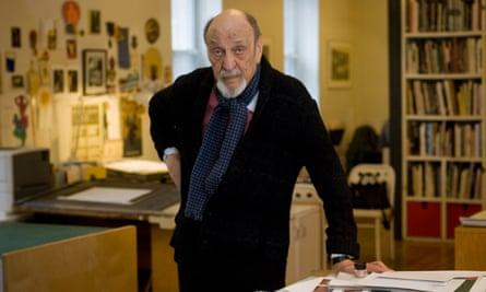 Milton Glaser in his studio in New York City.