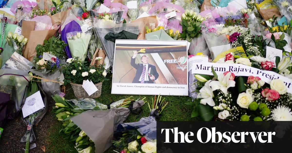 The Observer view on the killing of Sir David Amess