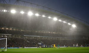 Brighton and Hove Albion playing at the Amex stadium.