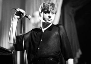 Mark E Smith in 1985.