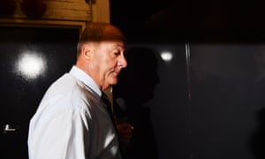 Daryl Maguire arrives at the Icac hearing in Sydney, Friday, 16 October 2020.