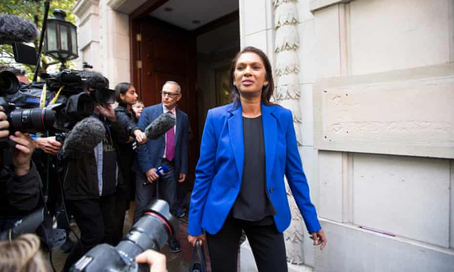 Gina Miller after the supreme court ruled that Boris Johnson's suspension of parliament unlawful.