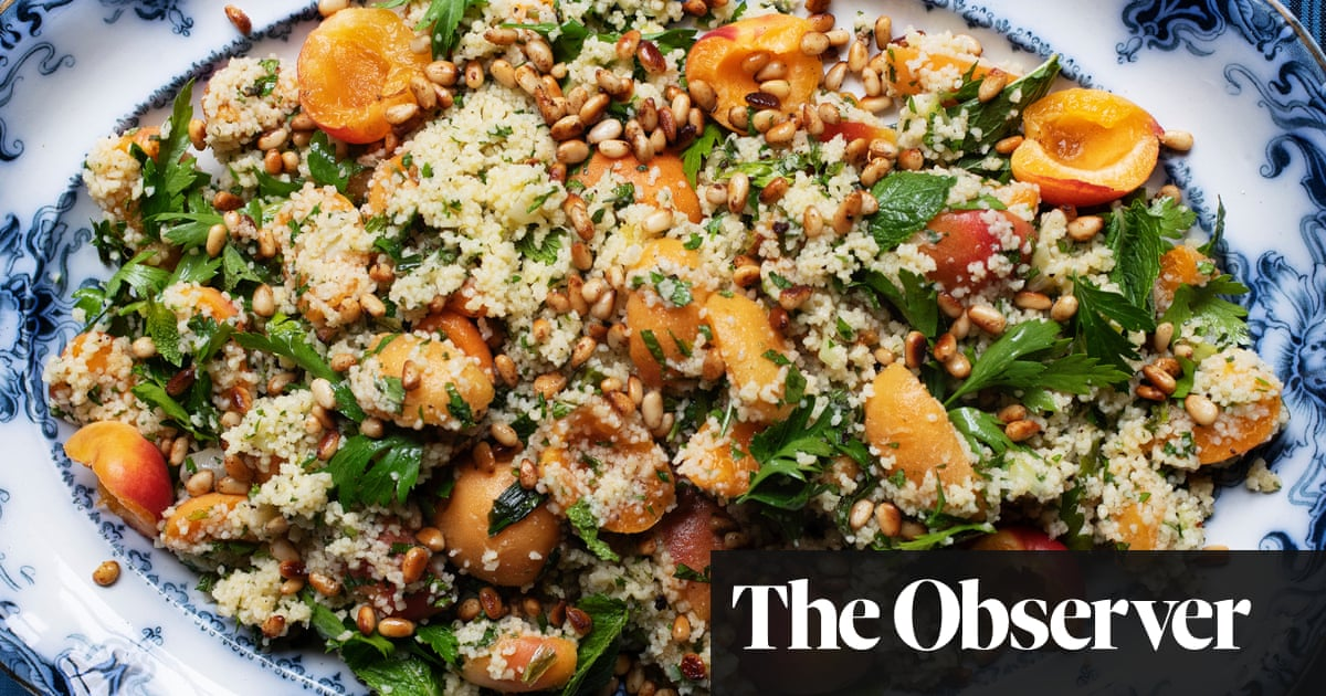 Nigel Slater's recipes for couscous with apricots, and mozzarella with tomatoes