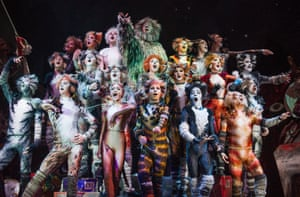 Cats by Andrew Lloyd Webber at the London Palladium in 2014.