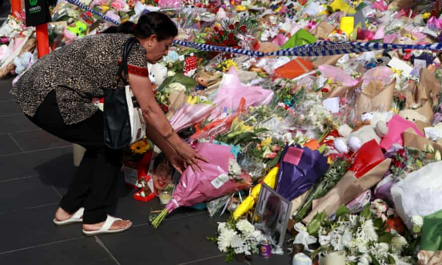 Floral tributes to the five people killed in Bourke Street mall.