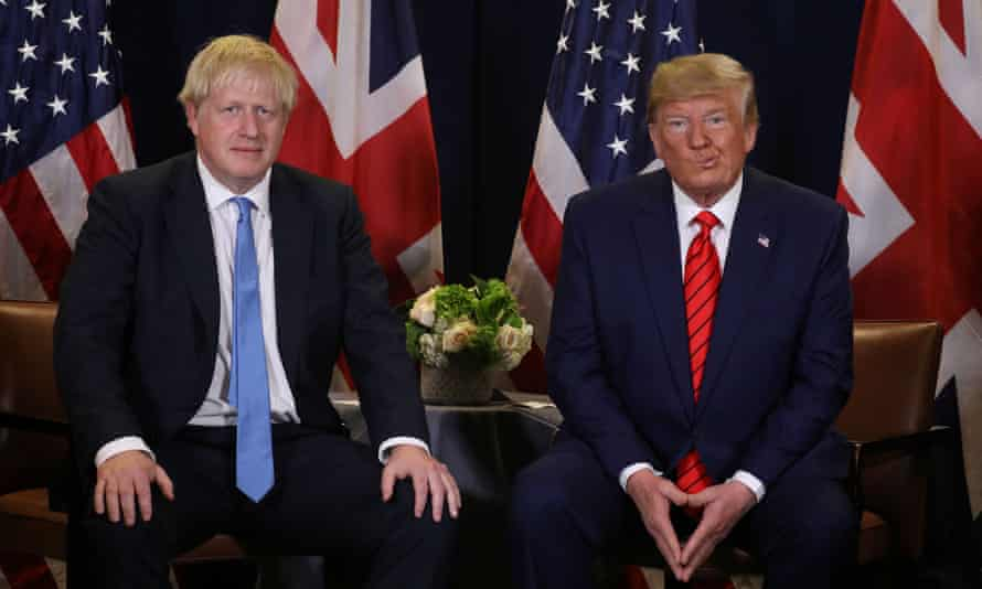 Boris Johnson with Donald Trump at the UN General Assembly in 2019.