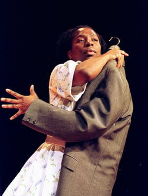 Tanya Moodie in Le Costume, Young Vic, London, 2001.