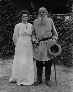 Deep contradictions … Leo Tolstoy with his daughter Masha, circa 1905.