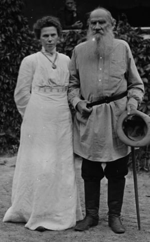 Tolstoy and his daughter circa 1905.