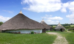 'Iron Age' roundhouses at Butser Ancient Farm, Hampshire, England