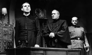 A performance of Rolf Hochhuth's controversial Der Stellvertreter (The Representative) in Berlin in 1963.