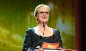 Setting the record straight ... Meryl Streep at the Berlin film festival on 20 February.