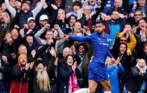 Chelsea's Ruben Loftus-Cheek celebrates scoring his side's second goal