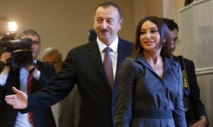 Azerbaijan President Ilham Aliyev and his wife Mehriban